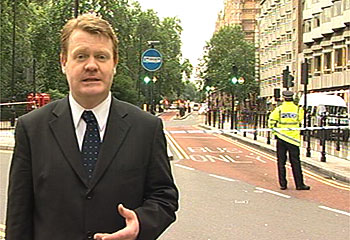 Live in London the moring after the 7/7 attacks.  This is Tavistock Square when the bus was attacked,